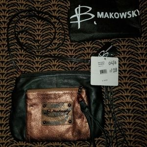 B. Makowsky leather crossbody bag